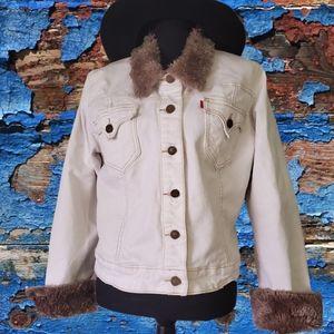 Levi's white jean jacket